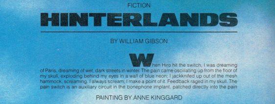 hinterlands - william gibson