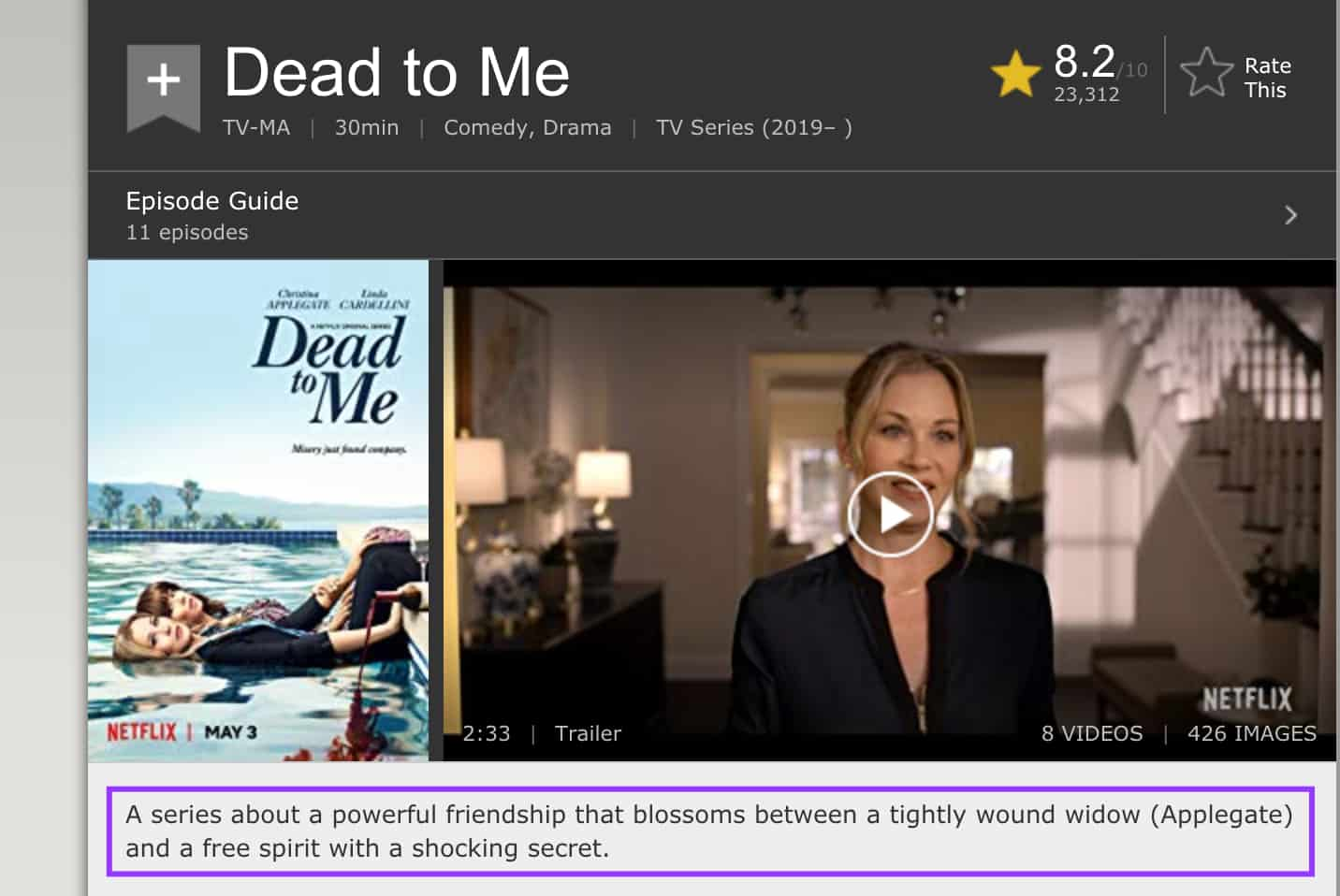 dead to me imdb