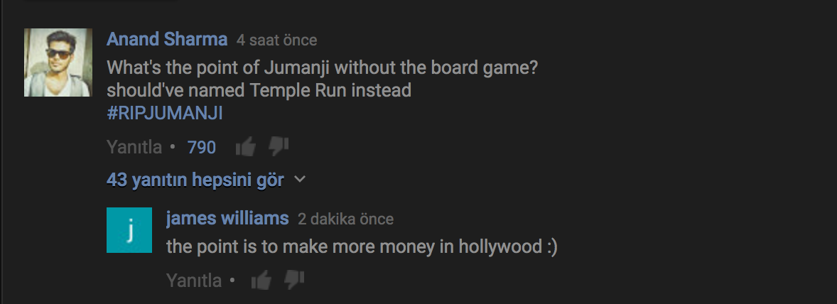 jumanji youtube